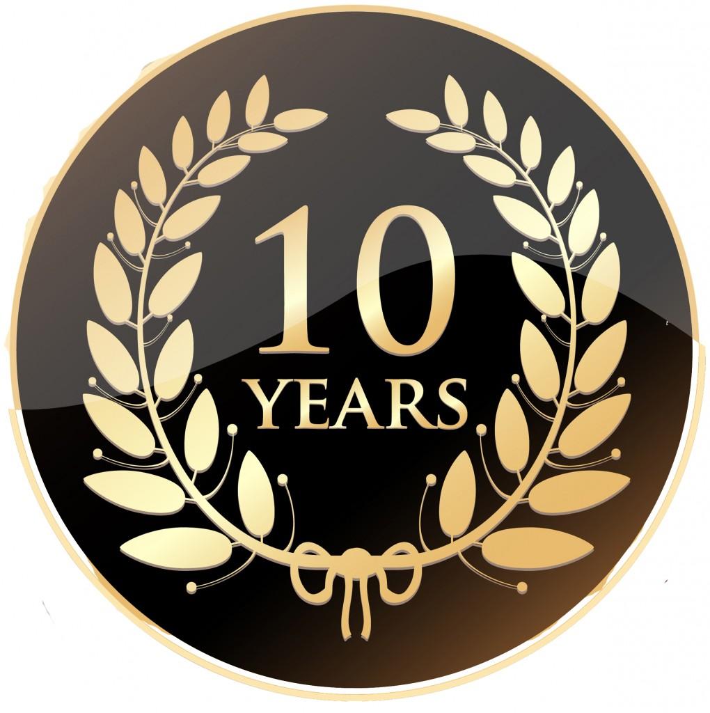 10 Year anniversary badge