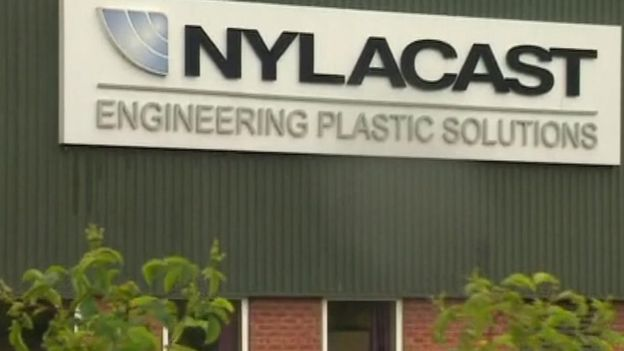 Nylacast building sign
