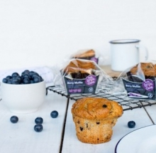 Blueberry muffins on table