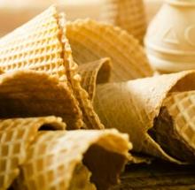 Empty ice cream cones